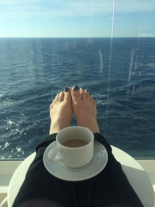 coffee on balcony
