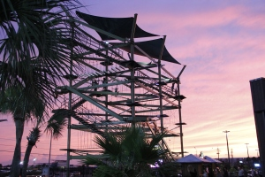Ropes course at Sunset