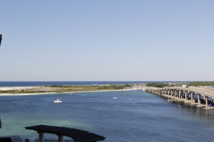 The Destin Bridge and east pass.